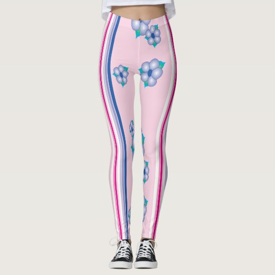 Pink Flowered Leggings