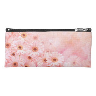 Pink Flowered Pencil Case