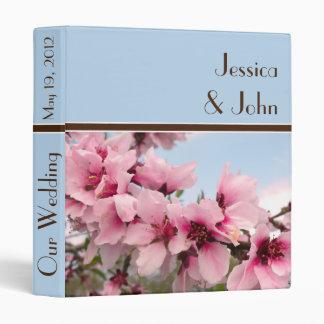 Pink Flowering Branch Wedding Binder