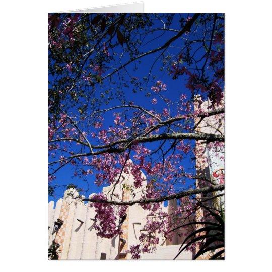 Pink Flowering Tree card