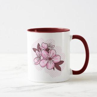 Pink Flowers 11 oz Combo Mug