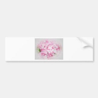 Pink flowers abstract wedding background bumper sticker