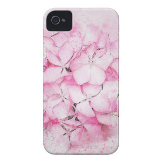 Pink flowers abstract wedding background Case-Mate iPhone 4 case