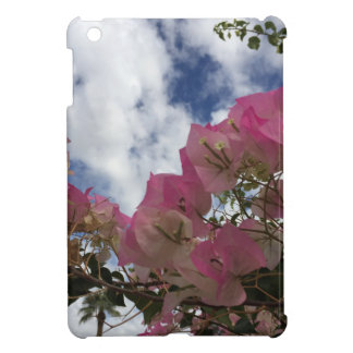 pink flowers against a blue sky cover for the iPad mini