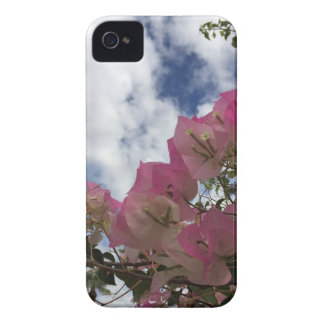 pink flowers against a blue sky iPhone 4 covers