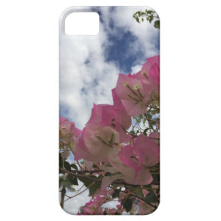 pink flowers against a blue sky iPhone 5 cases