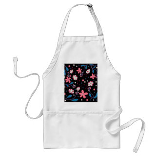Pink flowers and ladybugs standard apron