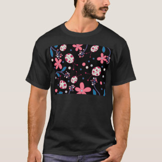 Pink flowers and ladybugs T-Shirt