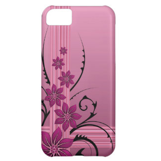 pink flowers and stripes Case-Mate iPhone case