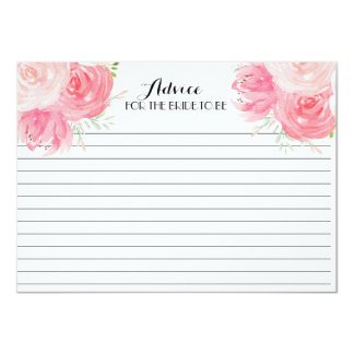 Pink FLowers  Beautiful Floral Advice Cards