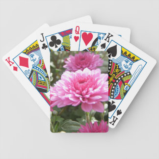 pink flowers bicycle playing cards