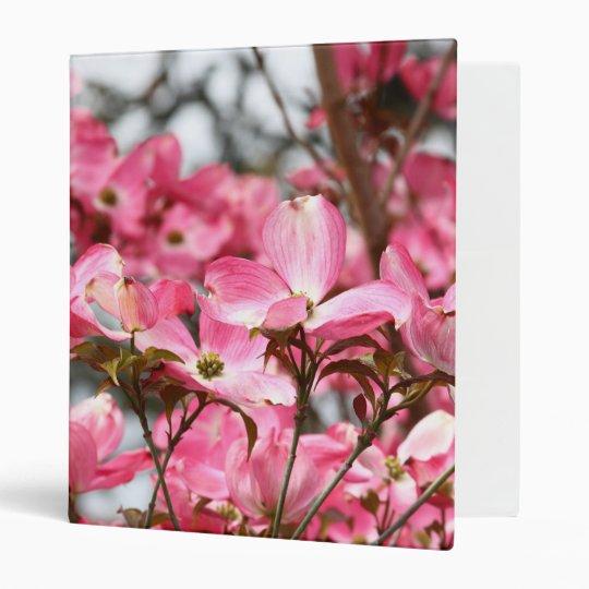 Pink Flowers Binder