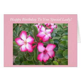 Pink Flowers Birthday Card