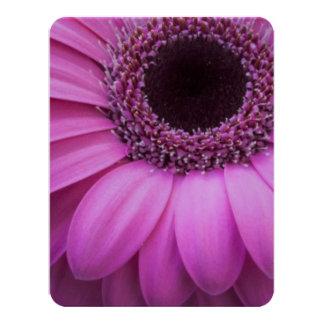 "Pink Flowers Blossoms Petals Peace Love Destiny 4.25"" X 5.5"" Invitation Card"