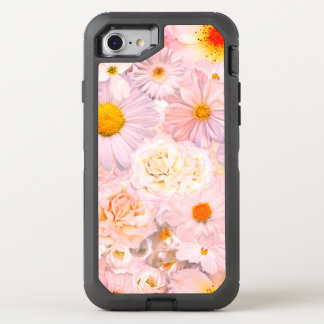 Pink Flowers Bouquet Floral Wedding Bridal Spring OtterBox Defender iPhone 8/7 Case
