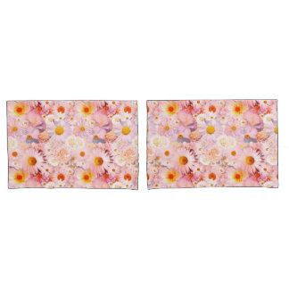 Pink Flowers Bouquet Floral Wedding Bridal Spring Pillowcase