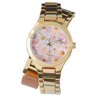 Pink Flowers Bouquet Floral Wedding Bridal Spring Watch