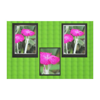 Pink Flowers Gallery Wrapped Canvas