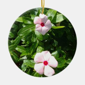 PINK FLOWERS CERAMIC ORNAMENT
