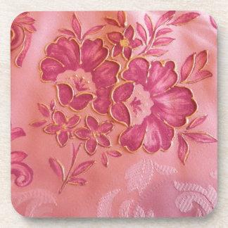 Pink flowers Cork Coaster