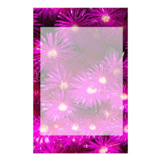 Pink Flowers Customized Stationery