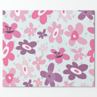 Pink Flowers Cute Whimsical Pattern