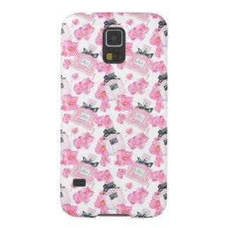 Pink Flowers Fashion Parfume Galaxy S5 Case
