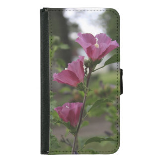 Pink Flowers Galaxy S5 Wallet Case