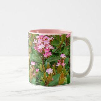 pink flowers, green leaves Coffee Mug