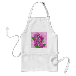 Pink flowers in acrylic standard apron