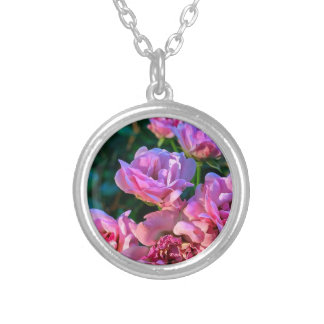 Pink_Flowers.JPG Silver Plated Necklace