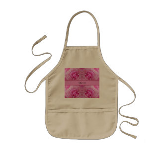 Pink Flowers Kids Apron