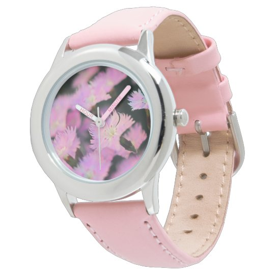 Pink Flowers Ladies Watch