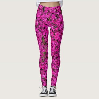 Pink Flowers Leggings