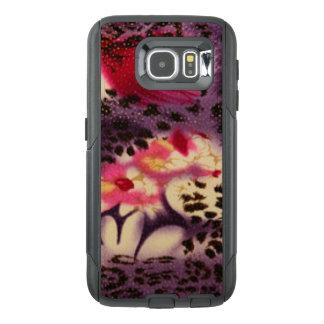 Pink Flowers & Leopard Design OtterBox Samsung Galaxy S6 Case