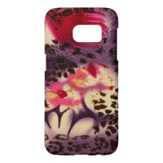 Pink Flowers & Leopard Design Samsung Galaxy S7 Case