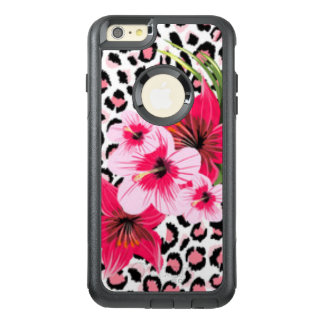 Pink Flowers & Leopard Pattern Print Design OtterBox iPhone 6/6s Plus Case