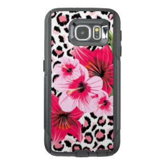 Pink Flowers & Leopard Pattern Print Design OtterBox Samsung Galaxy S6 Case