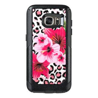 Pink Flowers & Leopard Pattern Print Design OtterBox Samsung Galaxy S7 Case