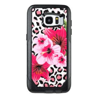 Pink Flowers & Leopard Pattern Print Design OtterBox Samsung Galaxy S7 Edge Case