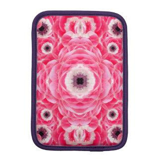 Pink Flowers Mandala iPad Mini Sleeve