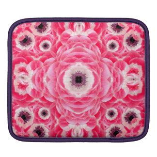 Pink Flowers Mandala iPad Sleeve