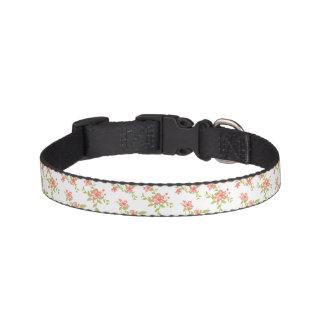 Pink Flowers Pet Collar