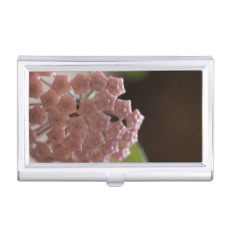 Pink Flowers Photography Business Card Holder