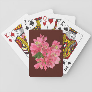 Pink Flowers Playing Cards