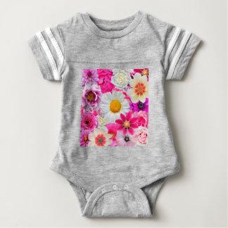 Pink flowers_ Sanchez Glory Baby Bodysuit