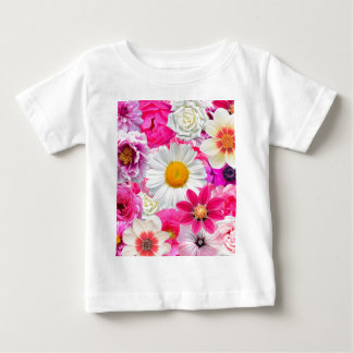 Pink flowers_ Sanchez Glory Baby T-Shirt