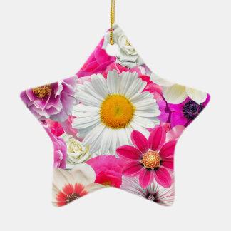 Pink flowers_ Sanchez Glory Ceramic Ornament