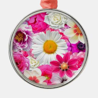 Pink flowers_ Sanchez Glory Metal Ornament