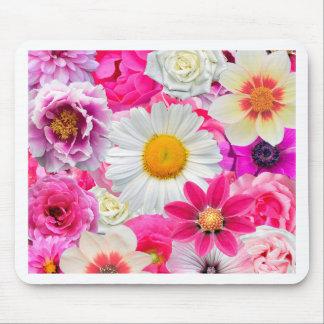 Pink flowers_ Sanchez Glory Mouse Pad